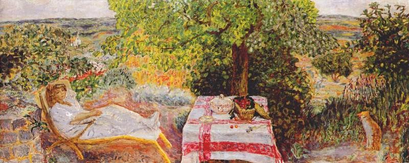 resting in the garden c1914. Pierre Bonnard