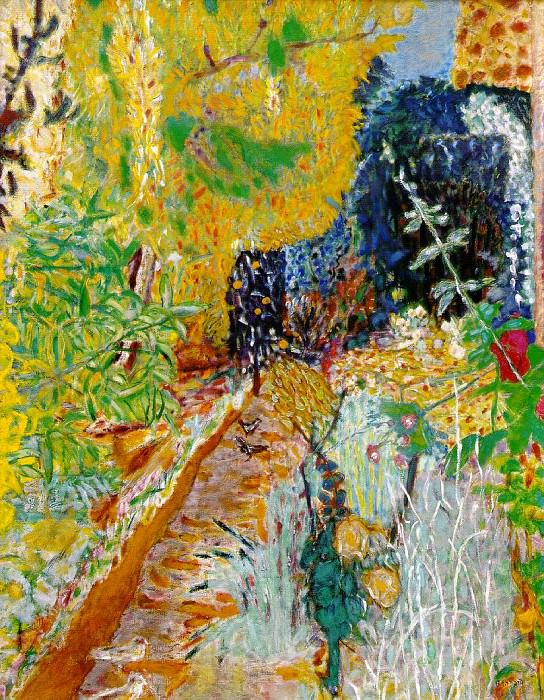 Le jardin, ca 1937. Pierre Bonnard