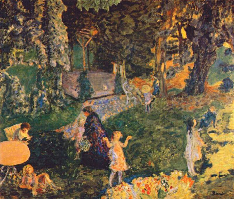 the family in the garden c1901. Pierre Bonnard