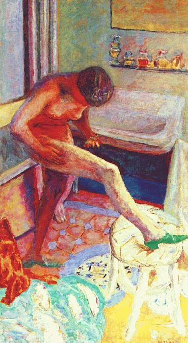 nude with green slipper 1927. Pierre Bonnard