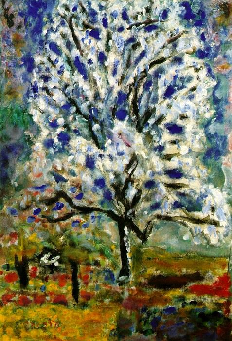 Lamandier en fleurs (The almond tree in blossom). Pierre Bonnard