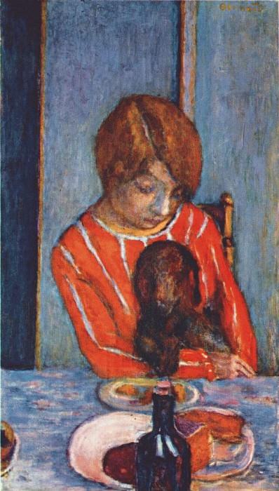 woman and dog 1922. Pierre Bonnard