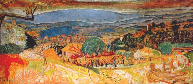 Пейзаж в видом Ле Канне. Пьер Боннар