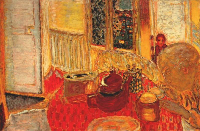 the breakfast table 1936. Pierre Bonnard