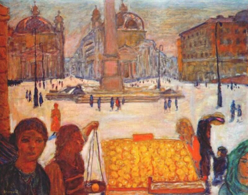 Пьяцца дель Пополо в Риме, 1922. Пьер Боннар