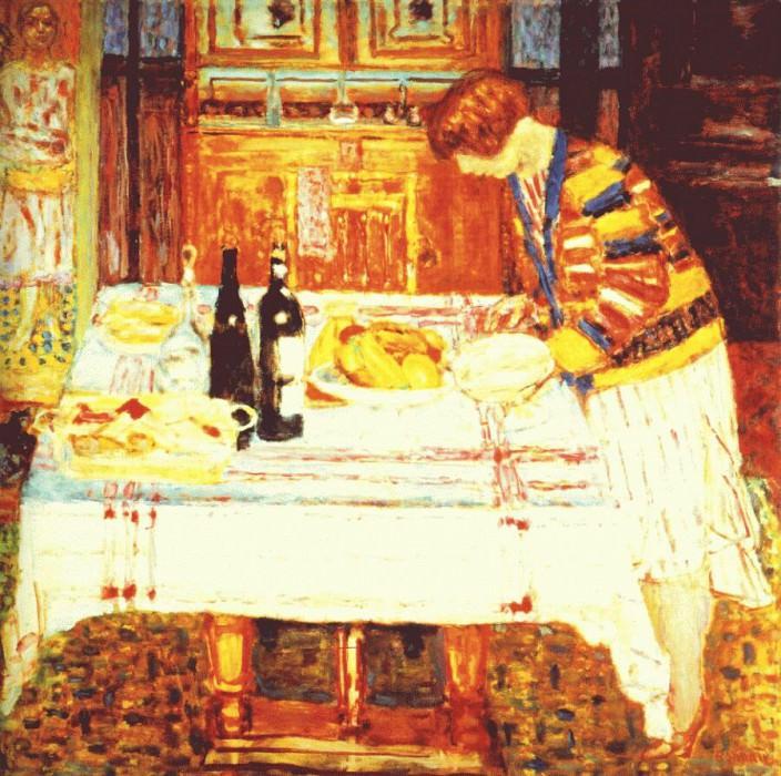 После еды, 1925. Пьер Боннар