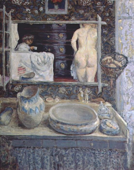 the bathroom mirror 1908. Pierre Bonnard