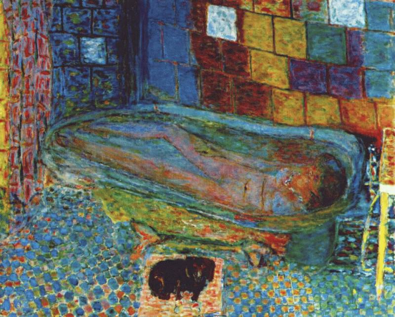 nude in the bath and small dog 1941 6. Pierre Bonnard