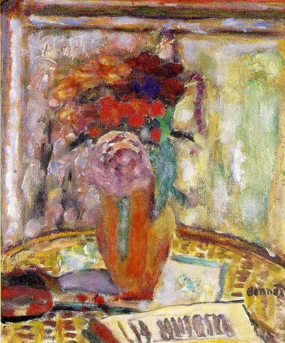 Ваза с цветами, 1945. Пьер Боннар