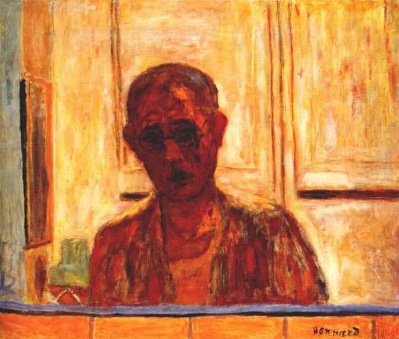 self portrait in mirror 1938. Pierre Bonnard