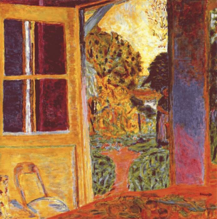 Дверь, открытая в сад, ок.1924. Пьер Боннар