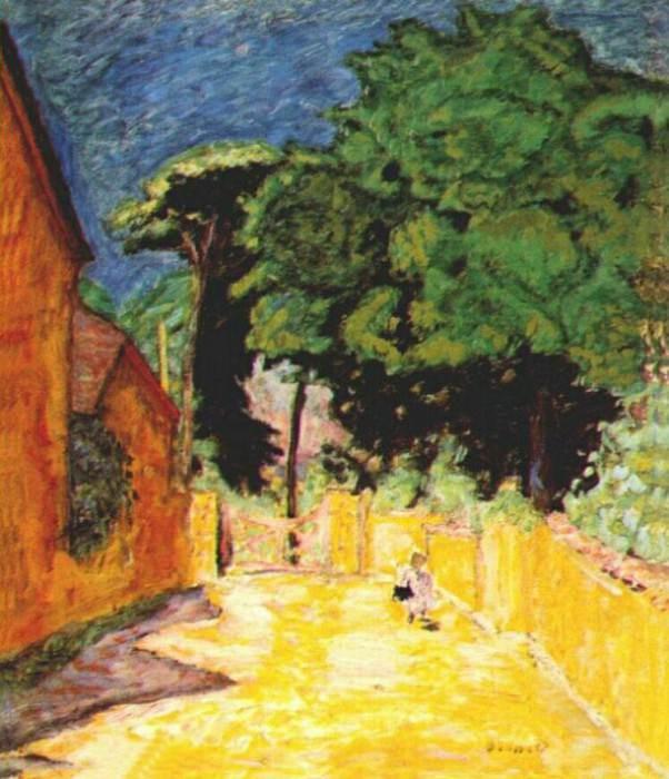 the lane at vernonnet 1912 14. Pierre Bonnard