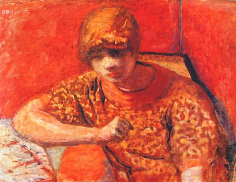 Оранжевая блузка. Пьер Боннар
