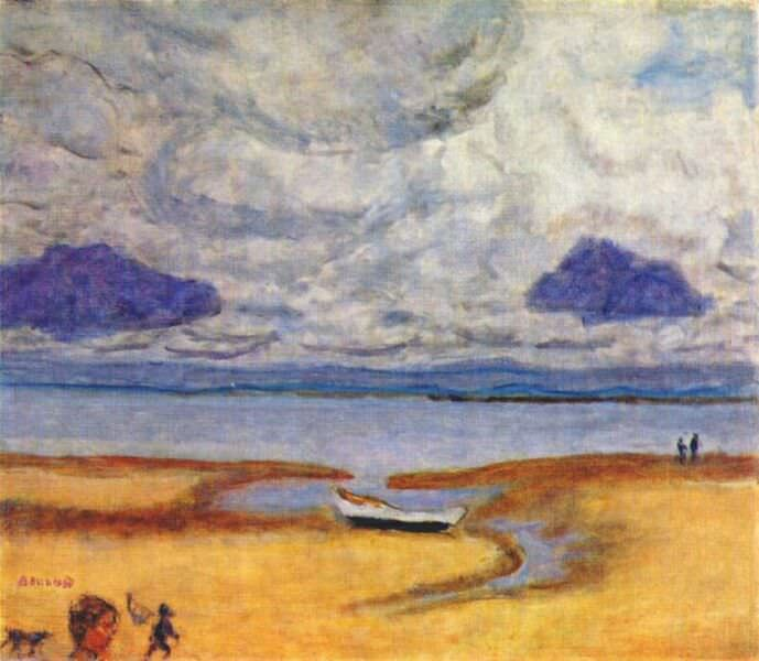 beach at low tide 1920. Pierre Bonnard