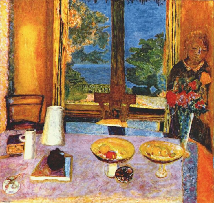 dining room on the garden before 1933. Pierre Bonnard