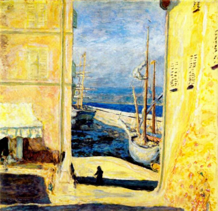 port of st tropez 1911. Pierre Bonnard