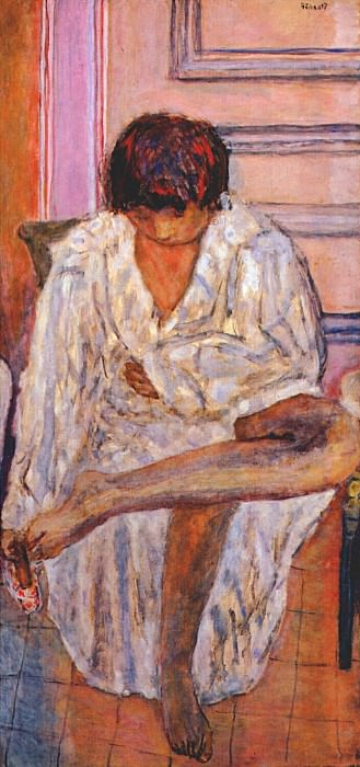 woman at her toilette c1923. Pierre Bonnard
