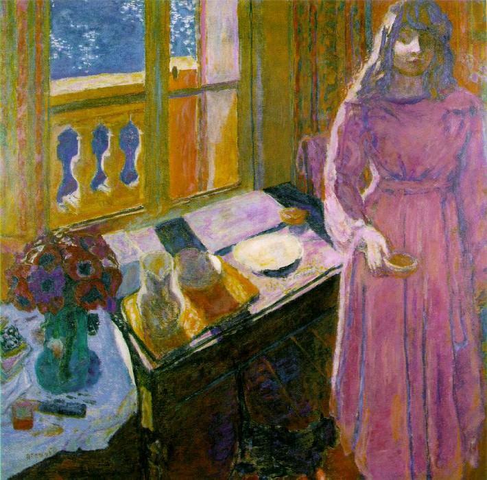 INTERIOR AT ANTIBES 1920. Pierre Bonnard