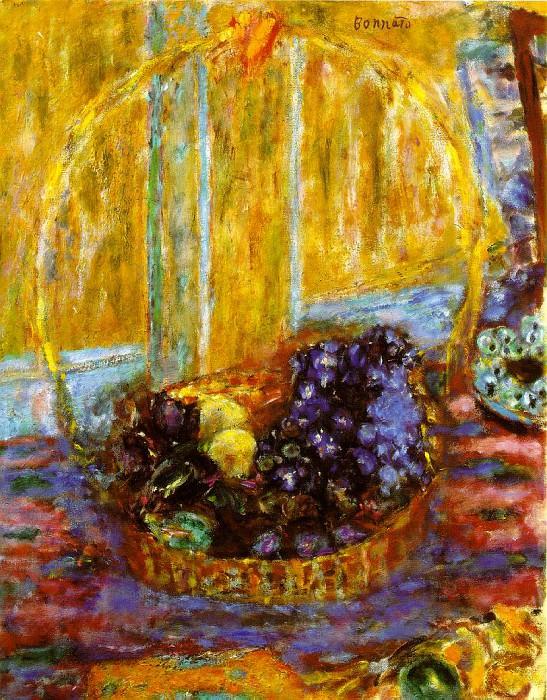 Корзина с фруктами, ок. 1946. Пьер Боннар