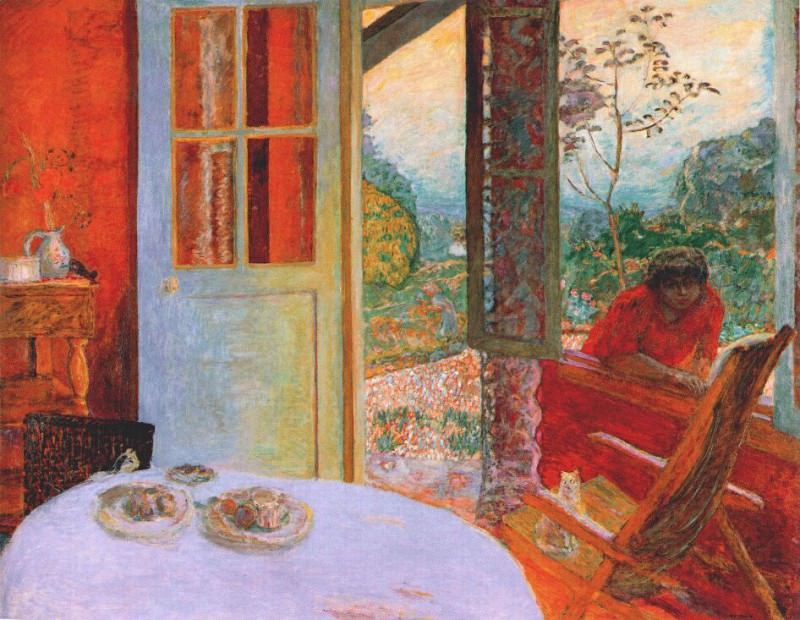 the dining room in the country 1913. Pierre Bonnard