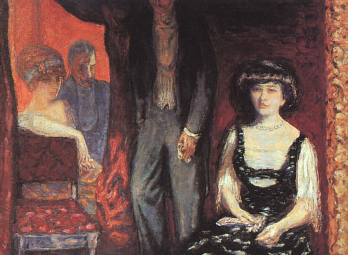 The Loge, 1908, oil on canvas, Musee dOrsay at Pari. Pierre Bonnard