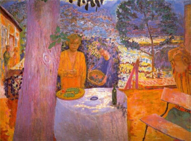 terrace at vernon c1920 39. Pierre Bonnard