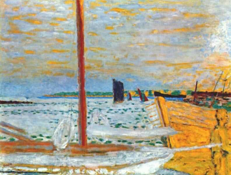 the yellow boat c1936 8. Pierre Bonnard