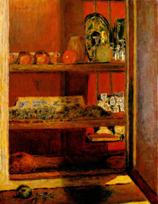 Le placard rouge (The Red Cupboard), 1939. Pierre Bonnard