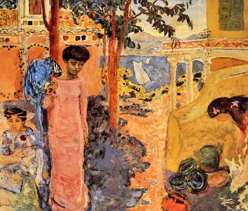 Женщина с попугаем. Пьер Боннар