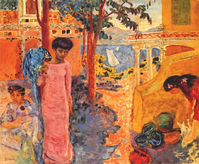 Женщина с попугаем, 1910. Пьер Боннар