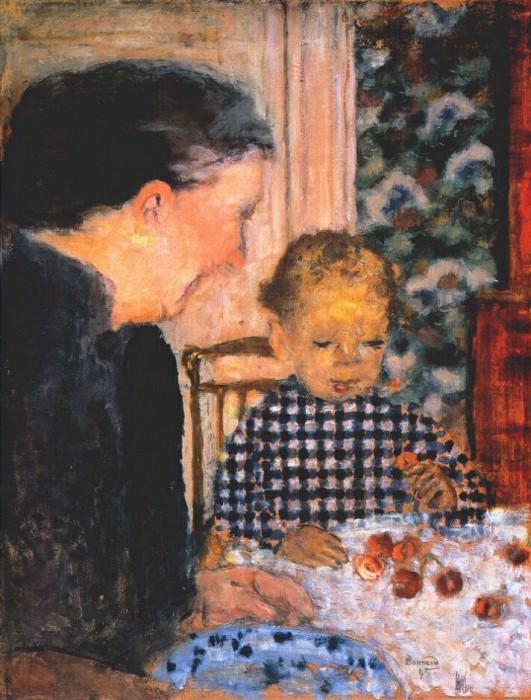 Ребенок, вкушающий вишни. Пьер Боннар