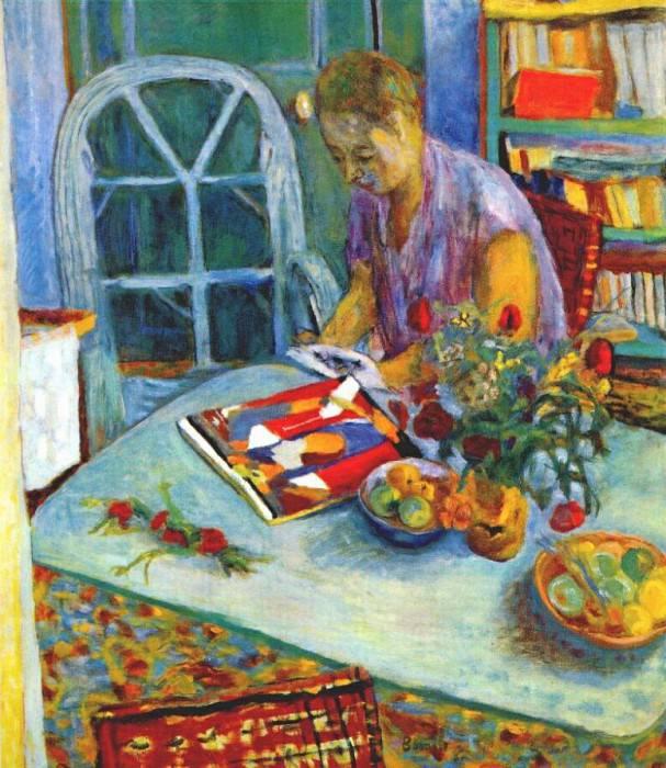 Женщина на фоне интерьера. Пьер Боннар