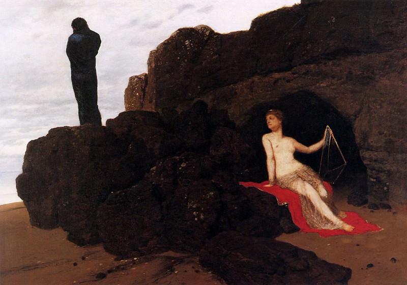 Odysseus and Calypso. Arnold Bcklin