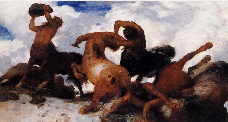 Centaur fight. Arnold Bcklin
