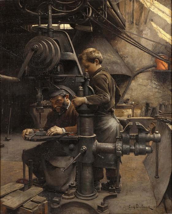 Un Patron or The lesson of the Apprentice. Jean Eugene Buland