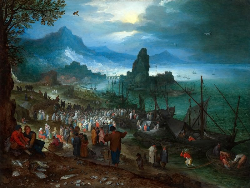Christ Preaching At The Seaport. Jan Brueghel The Elder