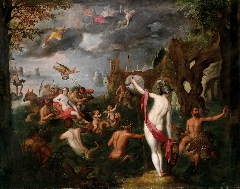 Wedding of Poseidon and Amphitrite. Jan Brueghel The Elder