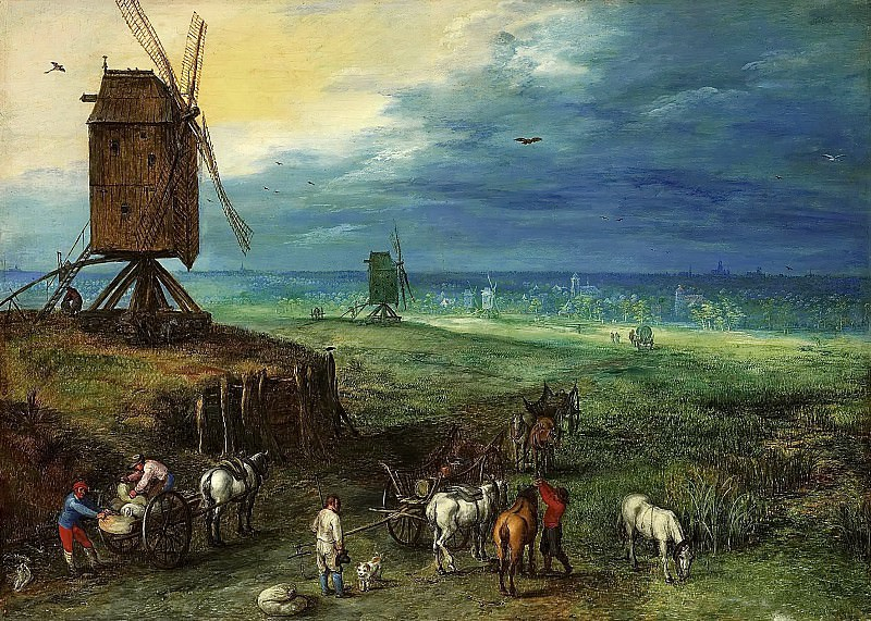 Landscape with a Mill. Jan Brueghel The Elder