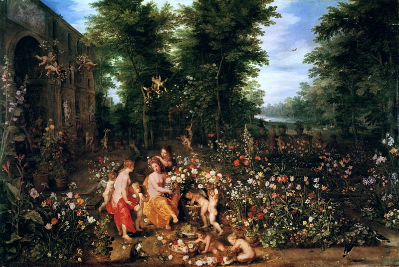 Flora in the Flower Garden. Jan Brueghel The Elder