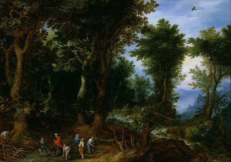 Wooded Landscape with Abraham and Isaac. Jan Brueghel The Elder