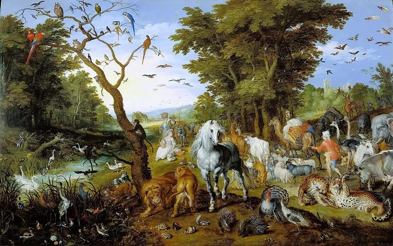 The Entry of the Animals into Noahs Ark. Jan Brueghel The Elder
