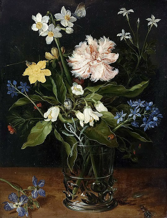 Still Life with Flowers in a Glass. Jan Brueghel The Elder