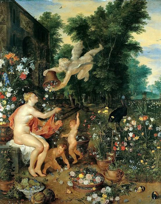 Flora and Zephyr. Jan Brueghel The Elder