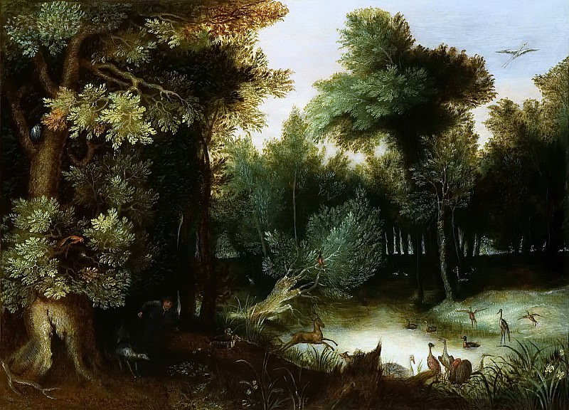 Forest Landscape with hunter. Jan Brueghel The Elder