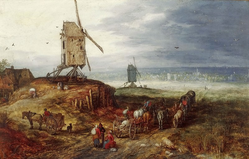 Landscape with a Mill. Jan Brueghel The Elder