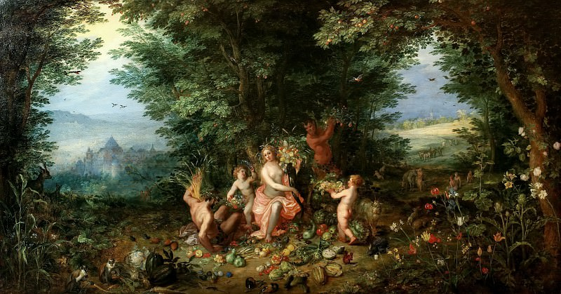 Earth. Jan Brueghel The Elder