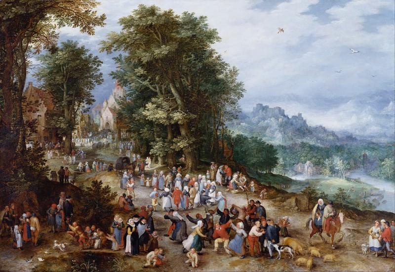 Flemish Fair. Jan Brueghel The Elder