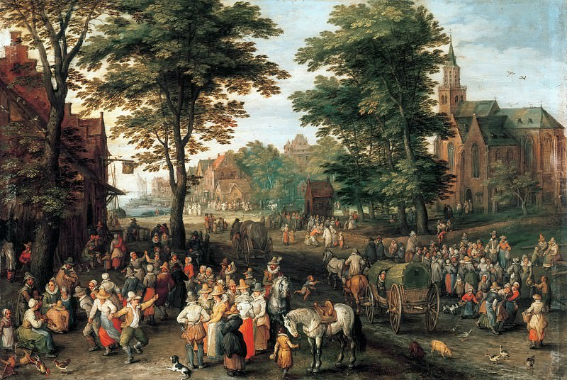 The Kermess. Jan Brueghel The Elder