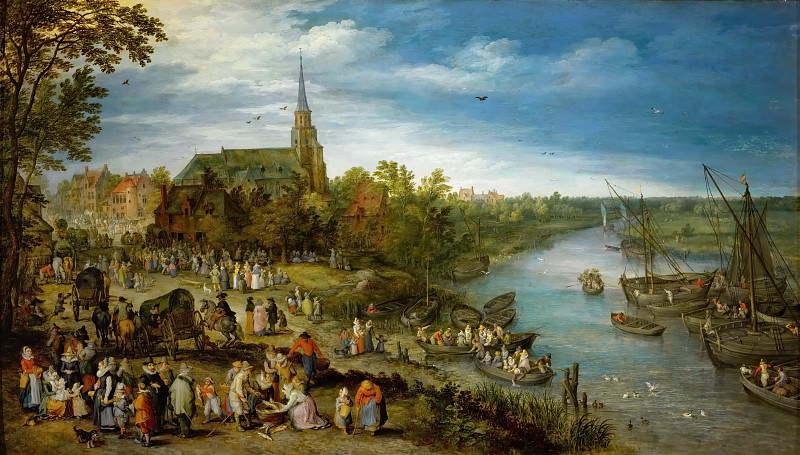 Village Fair. Jan Brueghel The Elder