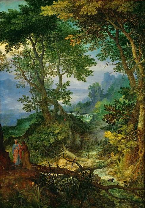 Mountain Landscape with the Temptation of Christ. Jan Brueghel The Elder